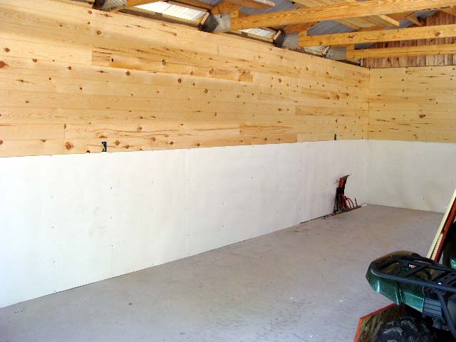 I Am Going To Use Some Luan Plywood On The Ceilings With 1x3s Covering Up Seams Plan Epoxy Paint Floors And Then Get Everything Moved In